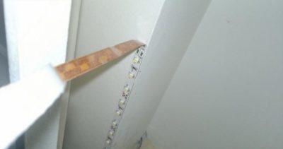 как спрятать светодиодную ленту