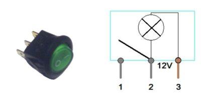 как подключить выключатель с индикатором