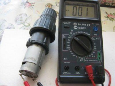 как проверить электродвигатель мультиметром