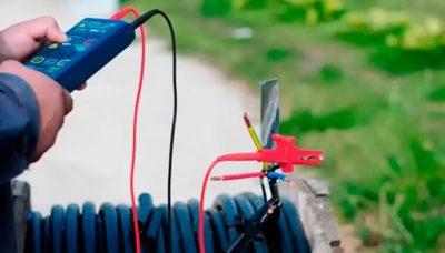 как проверить кабель мегаомметром