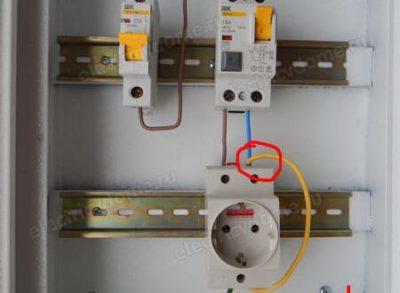как подключить дифавтомат в щитке с заземлением