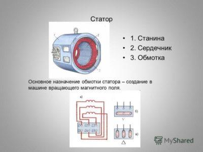 как определить начало и конец обмотки электродвигателя