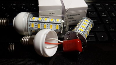 как устроена светодиодная лампа на 220 вольт
