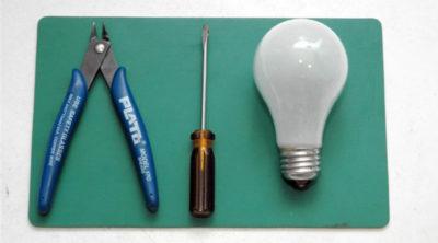 как разобрать лампочку накаливания