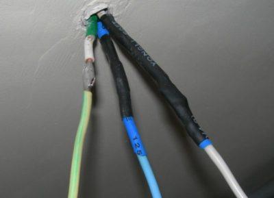 как соединить провода разного сечения