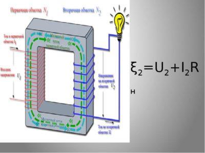 как обозначается трансформатор на схеме