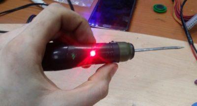 как сделать контрольную лампу для авто