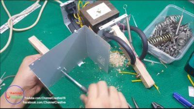 как сделать контактную сварку из микроволновки