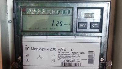 меркурий 230 ам 02 как снять показания