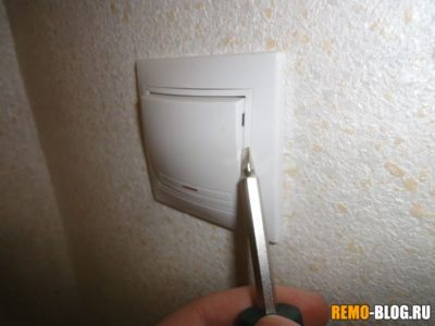 как разобрать выключатель света
