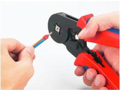 как обжимать провода клещами