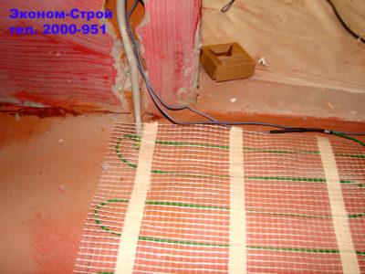 как стелить теплый пол под линолеум