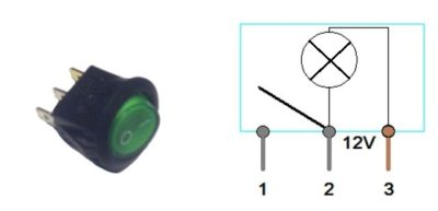как подключить одноклавишный выключатель с подсветкой