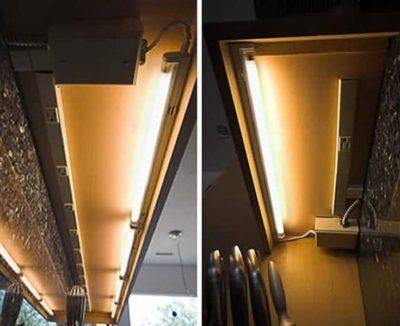 как сделать подсветку шкафов на кухне
