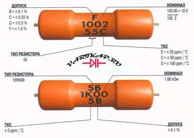 сгорел резистор как определить номинал