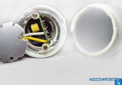 как отремонтировать диодную лампочку на 220 вольт