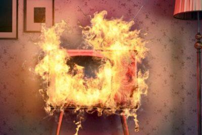 что делать если загорелся телевизор