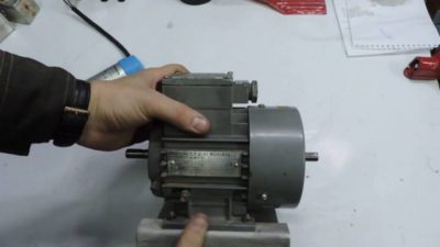 как из трехфазного двигателя сделать однофазный