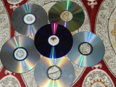 как сделать гирлянду из дисков
