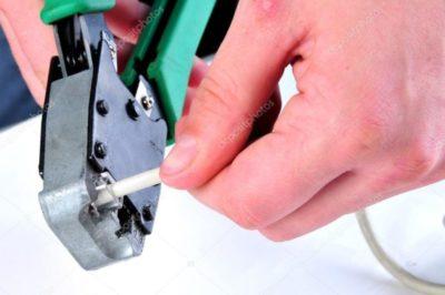 как обжать телефонный кабель