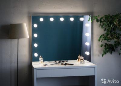 как сделать зеркало с лампочками своими руками