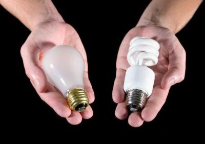 что внутри энергосберегающей лампы