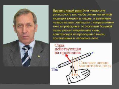 что можно определить применив правило левой руки